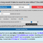 How long does it take to count to 1 million? 1 billion? 1 trillion?