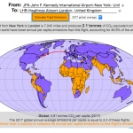 Greenhouse gas emissions from airplane flights